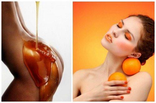 использование меда и цитрусовых для антицеллюлитной мази