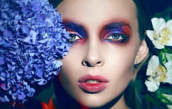 красиввый подиумный макияж