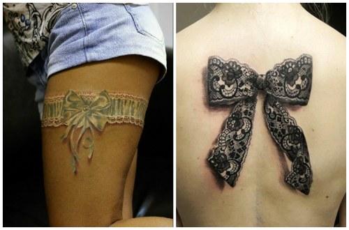 кружевные татуировки