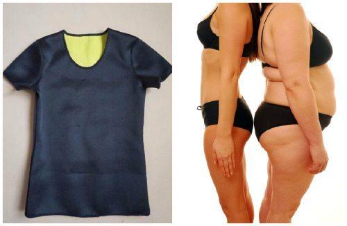 уменьшение объемов тела с термо майкой- реду шейпер
