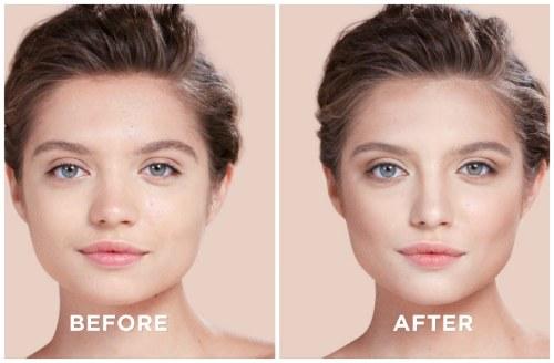 до и после контура лица