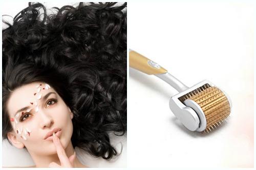 роскошные волосы с дермароллером