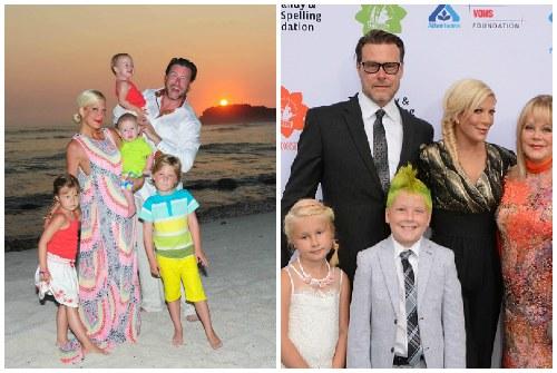 Тори с мужем и детьми