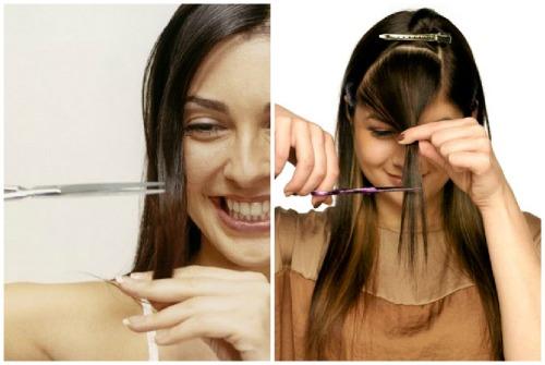 Как подрезать самой себе волосы