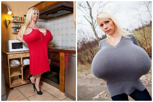 огромная силиконовая грудь