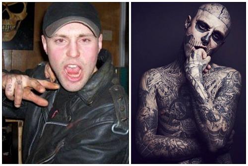 до и после тату