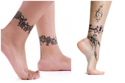 Эскизы татуировок браслетов на ногу