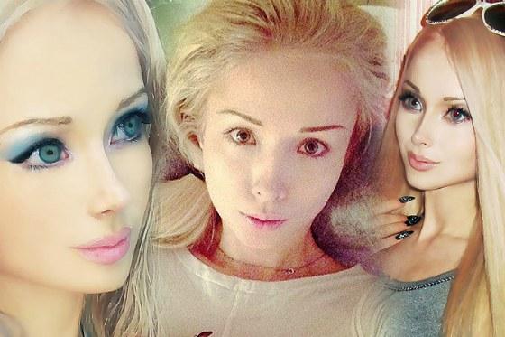 Лукьянова без макияжа и с ним
