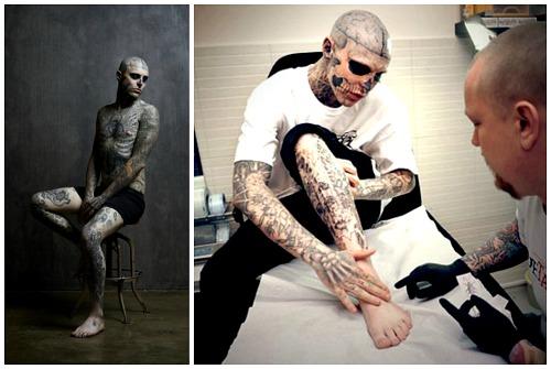 ноги в татуировках