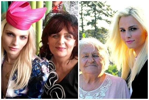 новоиспеченная дочь с мамой и бабушкой