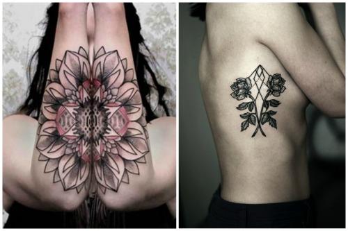 цветы на женском теле