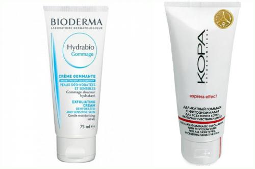 гоммажи Bioderma и Kopa