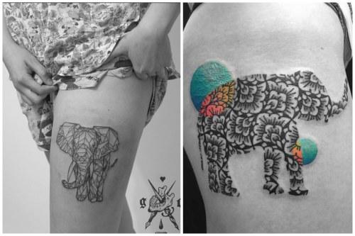 изображение слона на бедре