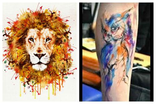 Лев и сова в цвете