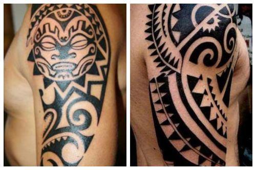 Орнаменты на мужском плече