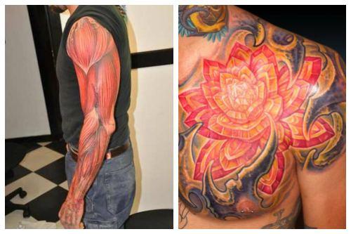 Красочные татушки в органическом стиле