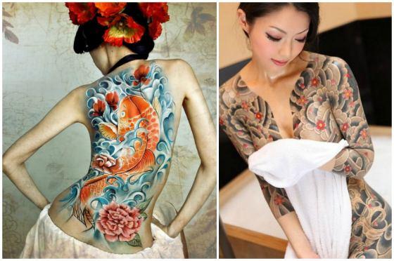 татуированные японки