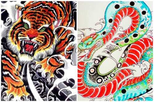 Тигр и змея