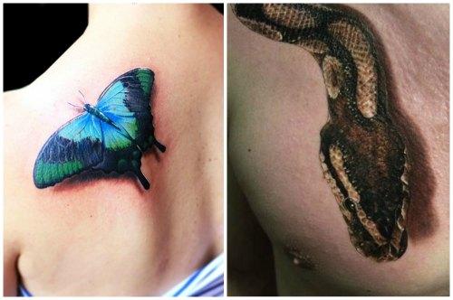 бабочка и змея 3d
