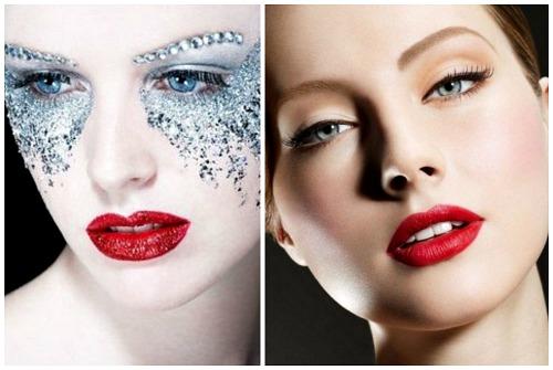 красный makeup губ