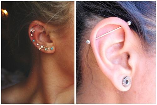 сережки в ухо