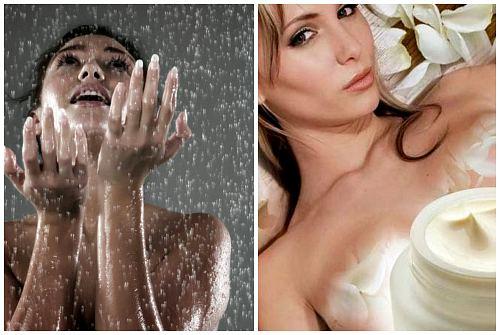 душ и увлажнение