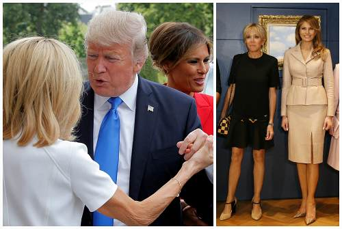 с Дональдом Трампом и Меланьей