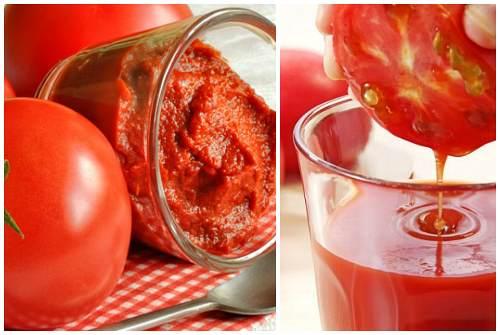 паста, плоды и сок