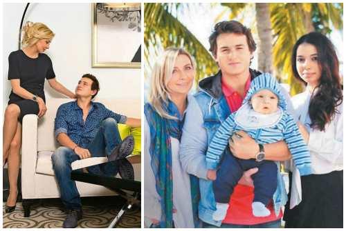 с сыном и его семьей
