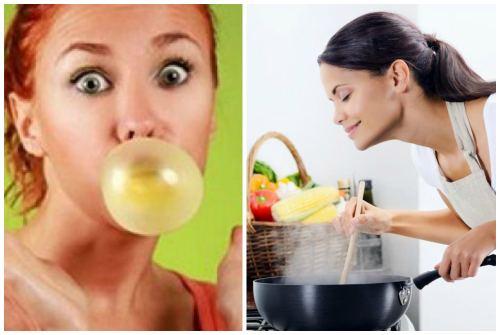 жвачка и наслаждение пищей