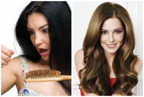 отличия в состоянии волос