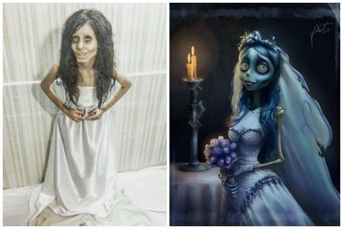 сходство с мертвой невестой