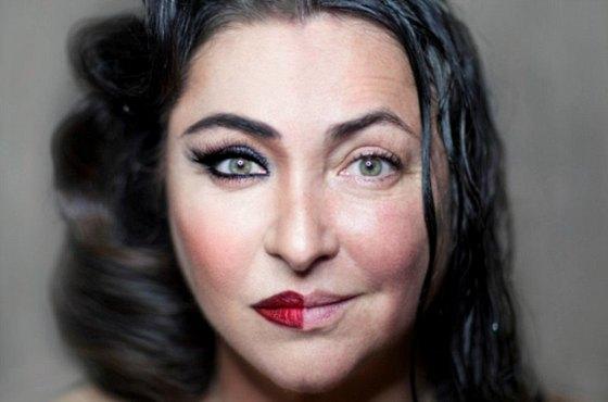 Лолита Милявская с макияжем и без