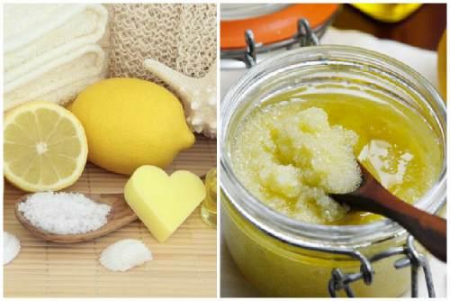 Лимонно-сахарный скраб