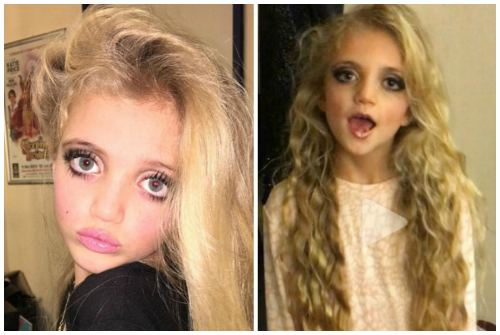 макияж для дочери