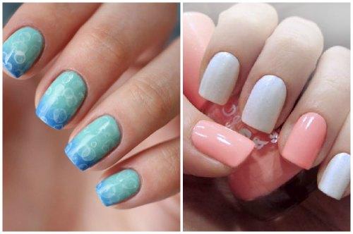 голубой и бирюзовый, розовый и белый